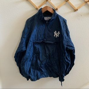 vtg NYY YANKEES pro player packable jacket XL